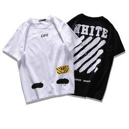 Wholesale 2017 ss Mirror Mirror Off White High Street Men Women Shorts T Shirt Striped Doodle Design Justin Bieber Asap Rocky Quality Guarantee