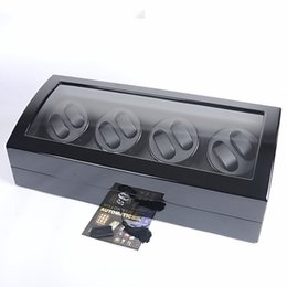 Wholesale 1 PCS LUXURY WOODEN NEW TOP QUALITY 8 AUTO WATCH WINDER +9 STORAGE BOX DISPLAY CASE MENS LADIES 17 WATCHES