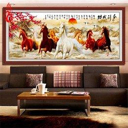 Скидка окрашенная лошадь YGS-095 DIY 5D Волшебный куб Круглая Алмазная картина Вышивка крестом Выиграйте мгновенный успех Алмазная вышивка Восемь лошадей Алмазная мозаика