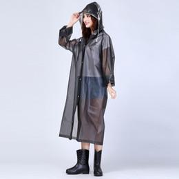2017 Cheap Sale Women Long Jacket Semi Transparent Waterproof Women Hooded Rain Coat EVA Friendly Women Ponchos Jackets
