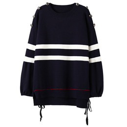 loose sweater 2017 autumn and winter Europe and America new type large code set head coat