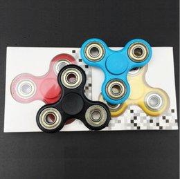 New arrival 2017 Best Gift Tri-Spinner Fidgets Toy Plastic EDC Sensory Fidget Spinner For Autism and ADHD Kids Adult Funny Anti Stress Toys