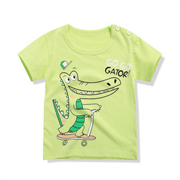 2017 children's short sleeved T-shirt, cotton, baby, baby, cartoon, short sleeve, girls, summer, new color