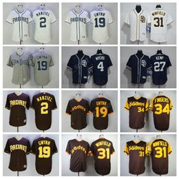 johnny manziel jerseys Promotion 2017 San Diego Padres Jerseys 19 Tony Gwynn 2 Johnny Manziel 4 Wil Myers 31 Dave Winfield Maillots de baseball Coffer White 34 Rollie Fingers