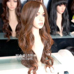 100% Brand New High Quality Fashion Picture full lace wigs>New long Light Brown Fashion Wavy wig