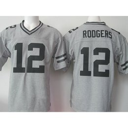 Wholesale Cheap High quality Men s Aaron Rodgers jerseys Stitched Logos Gray Gridiron Gray Limited Jersey hot sale