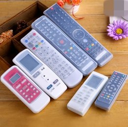2017 silicone covers for remote controls Silicone TV Télécommande Housse de protection Vidéo Air climatisé Dust Protect Storage Bag Anti-poussière étanche TT272 silicone covers for remote controls promotion