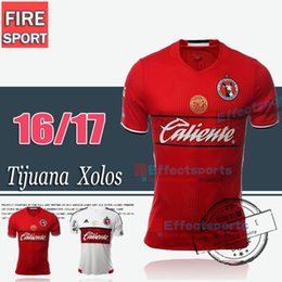 Wholesale 2016 Manga Corta Liga MX Club Tijuana Xolos De Tijuana Home Red Player version Soccer Jersey Marca White Fans version Football Shirts