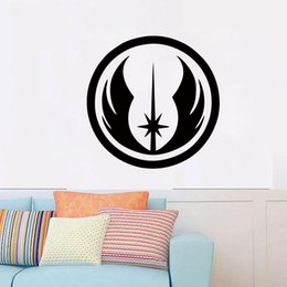Personality Jedi Order Symbol Star Wars Wall Art Sticker Vinyl Self Adhesive Transfer Room Door Window Decal DIY