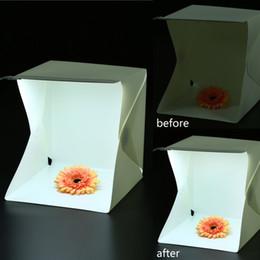 Wholesale Portable Mini Foldable Photo Studio Box Backgound Softbox Soft and Lightbox built in Light Photography Backdrop Box High Lighting Desktop