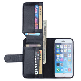 Multi-Function Folding Wallet Stand Leather Case Cover Litchi Texture Luxury For iPhone 7 Plus 5S 6S Plus Wallet cases 100pcs lot Free DHL