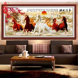 2017 окрашенная лошадь YGS-95 DIY 5D Magic Cube круглый бриллиант Картина Вышивка крестом Win мгновенного успеха Алмазы вышивки Восемь лошадей Алмазный Мозаика дешево окрашенная лошадь