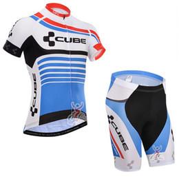 Descuento baberos ciclismo cubo CUBE maillot Ropa Ciclismo Pro Equipo Ciclismo Jersey Shorts Bib Manga Set Ropa Seco Rápido Bicicletas Bicicleta Ropa Deportiva