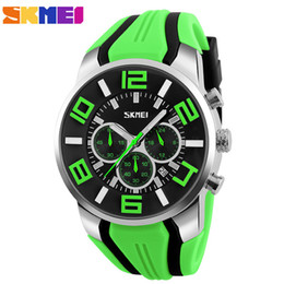 SKMEI Brand Six pin Stopwatch Chronograph Sports Watches Men Waterproof Silicone Quartz Watch Students Fashion Casual Wristwatch