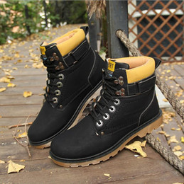2017 new Martin British men trendy dressing high cotton and autumn and winter men's shoes