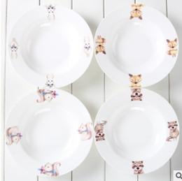 Acheter en ligne Assiettes en porcelaine pour-Le plat nordique de la Chine, un plat profond