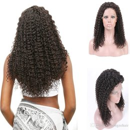 Wholesale Kindly Curly Full Lace wigs Natural Color Free Part Wave Human Hair Wig Lace Front Wig Curly Brazilian Hair Full Lace Wigs