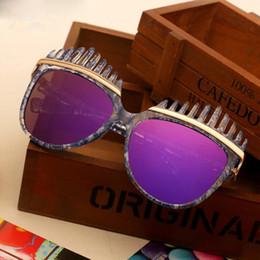 2017 gafas de sol púrpura Las gafas de sol púrpuras de los vidrios de sol de V-2703 UV400 califican las gafas de sol para las mujeres clasifican las gafas de sol del diseñador del rayo 1 PC liberan el envío con la caja gafas de sol púrpura en oferta