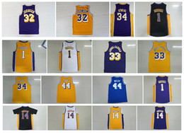 Wholesale Retro Shirt D Angelo Russell Jerry West Brandon Ingram Shaquille O Neal Jerry West Kareem Abdul Jabbar Throwback Jersey