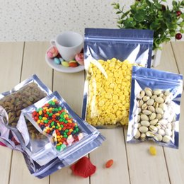 Compra Online Bolsas de embalaje reutilizables-Aluminum Foil Clear Bolsa de auto-sello Zipper Ziplock bolsa de embalaje Bolsa de venta al por menor Resealable Bolsa de embalaje