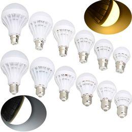 Wholesale 2017 New E27 B22 Bayonet LED Energy Saving Bulb Globe Lights Lamp W W W W W W W V Lighting