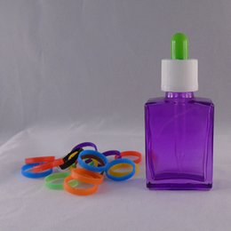 Sterilized square glass 30ml bottle beard oil liquid bottle clear red glass dropper serum bottle tamper seal cap for ejuice vape oil
