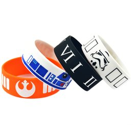 Wholesale 50PCS Lot Mix Design Star Wars Silicone Wristband, Wear This Latex-Free Bracelet To Support The One You Love