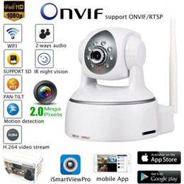 Wholesale Full HD P Wireless PTZ IP Camera Wifi CMOS Night Vision H264 PTZ IR Security Camera Motion Detection Home Security Onvif