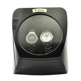 Jebely Dual 2 Watch Winder Diplomat Case Box Storage Timer Black Dual Automatic JA075- Black