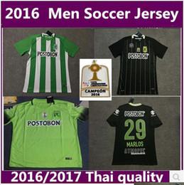 Wholesale 2016 Atletico Nacional Medellin away black and home jersey BORJA MARLOS RD Ibarbo Diego Arias Cardenas Luis Carlos Shirts best quali