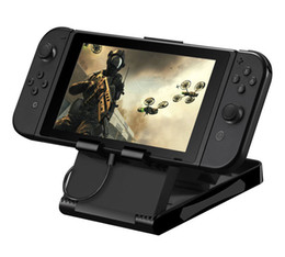 2017 Universal Playstand Desktop Stand For Nintendo Switch NS Game Console Holder Adjustable Angle Foldable Base Bracket