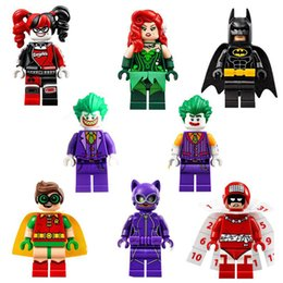 Wholesale 8pcs DC Super Heroes Joker Harley Quinn Robin Poison Ivy Calendar People Building Blocks Models Toys