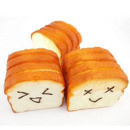 Wholesale New CM Jumbo Squeeze Toast Bread Squishy Expression Card Cellphone Holder Hand Pillow Toys Kawaii YG