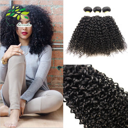 Peruvian Remy Hair Weave Kinky Curly Weave 4bundles Natural Black Sew In Human Hair Extensions 100g Pcs Virgin Peruvian Wavy Hair