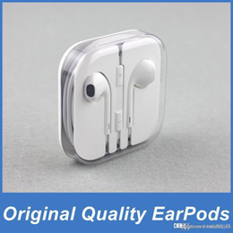 Wholesale Original Apple EarPods Earphones Headphones Headset with Mic and Volume Control Crystal Box for iPhone SE c s s Plus iPad IOS