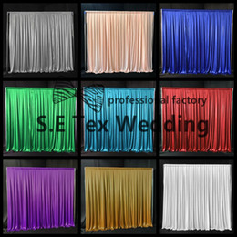 Cheap Price 3M*3M Ice Silk Wedding Backdrop Curtain Include Pipe Stand Free Shipping