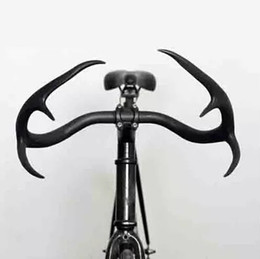 Wholesale stag antler cycling handlebar alloy bullhorn deerhorn glass fiber road bicycle handle bars fixie Fixed Gear Racing Bike parts