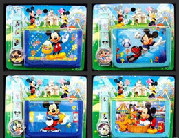 Mickey purse en Ligne-Lot Cartoon Mickey Montres-bracelets et porte-monnaie Porte-monnaie Set Kids Gift C - 19