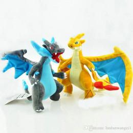 Mega tv en venta-25cm Kawaii Poke Monstruos muñeca de peluche de juguete relleno Mega Evolución X Y Charizard suave relleno de juguetes de peluche para niños regalo de dibujos animados
