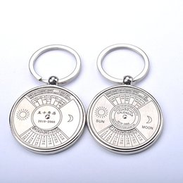 Wholesale The explosion of the beads in English calendar Keychain corporate gifts custom