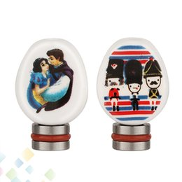 Newest 510 Ceramic Flat Drip Tips Soldier Pattern and Snow White Pattern Mouthpiece fit 510 Mods Atomizer DHL Free
