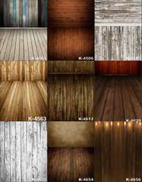 Wholesale 5X8FT Retro Stage Wooden Floor Art Baby Props Vinyl Backdrop Background For Photo Studio Computer Printed Photography Backgrounds Backdrops