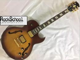 Descuento cuerdas custom shop Venta al por mayor - guitarras de China Custom Shop color de humo EE.UU. 8185 recogida 6 Guitarra eléctrica de jazz de cuerda LOGOTIPO exclusivo personalizable