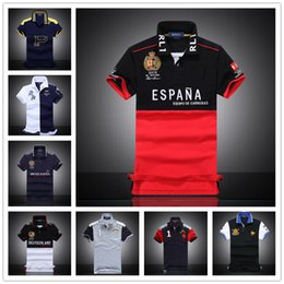 Wholesale 2017 New winter explosion models in Europe and America selling short sleeved T shirt men s POLO shirt embroidered NY boutique