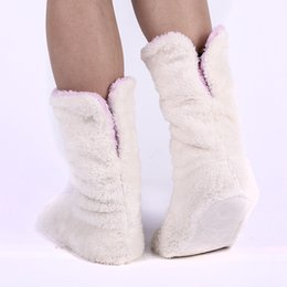 Wholesale New Super Warm Flannel Home Shoes Soft Plush House Slippers Best Quality Indoor Floor Socks Couples Wooden Floor Slippers