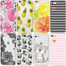 Silicon Case Cover for Coque iPhone 7 4 5S 5C SE 6 6S Plus Phone cases Soft TPU Fundas Fruit Transparent