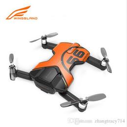 Promotion 4k caméra drone Genuine Wingsland S6 RC Camera Drone Pocket Drone Selfie avec 4k 13 Million de Pixels Suivez-moi RC Quadcopter