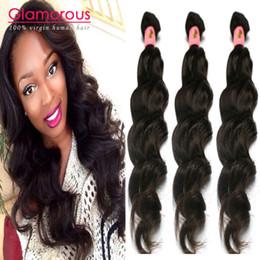 18 black hair à vendre-Glamour brésilien tissage des cheveux humains Bundles naturel vague cheveux ondulés paquets 3 pièces Lot brésilien tissage des cheveux pour les femmes noires