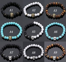 Wholesale Volcanic Stone Lions Head Bracelet Fashion Buddhist Buddha Meditation Beads Bracelets For Men Statement Jewelry Prayer Beads Bracelet