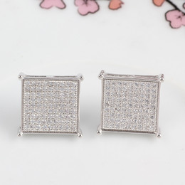 Wholesale Luxury Fashion New Style Sterling Silver Women Earrings AAA Genuine Austria Crystal CZ Diamond Stud Earrings
